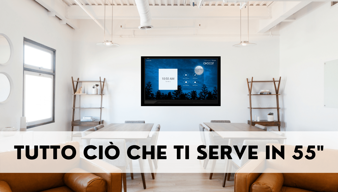 "AVOCOR presenta il nuovo display da 55"" per la collaboration"